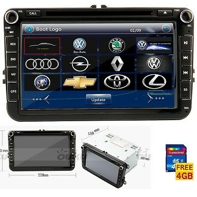 """8"""" VW VolksWagen Car Stereo DVD CD Player GPS Navi Touch Screen Radio+ Free Map"""