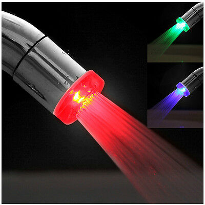 Fantsatic LED Light Water Faucet  7 Colors Changing Glow Shower Stream Tap new