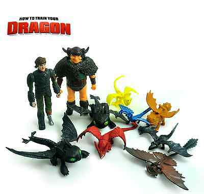 How To Train Your Dragon Figures Toothless Mini Toy Doll Kid Boy Play 10pcs HD03