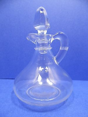 Cruet Decanter and Stopper Oil Vinegar Sauce Solid Clear Glass