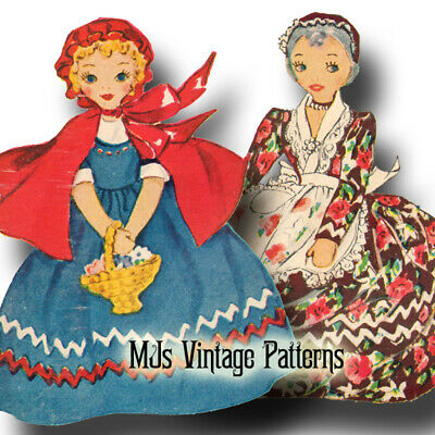 Vintage Upside Down Topsy Turvy Doll Pattern ~ Little Red Riding Hood & Grandma