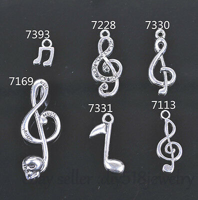 Charms Tibetan Silver Music symbol ♪ & DIY Jewelry making For Bracelet Necklace