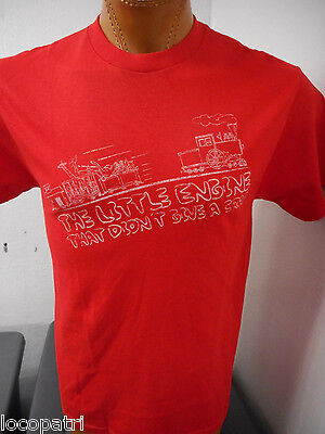 Men's Logotel Brand The Little Engine That Didn't Give A Crap Shirt New M