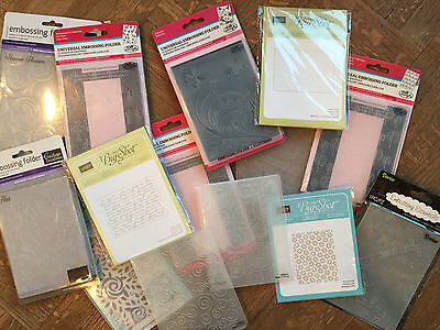 Stampin Up, Sizzix, Couture, Tim Holtz  Embossing Folders