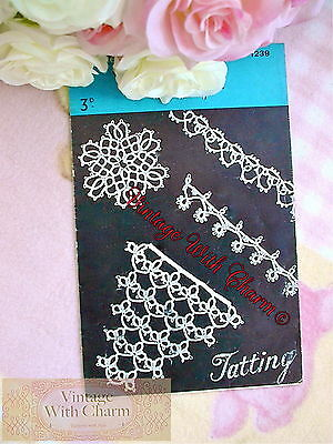 Vintage Tatting Pattern How To Tat, Simple Rings & Picots & 4 Projects NO P&P!!