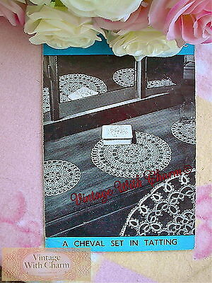 Vintage Tatting Pattern How To Tat, Simple Rings & Picots & Cheval Pattern.