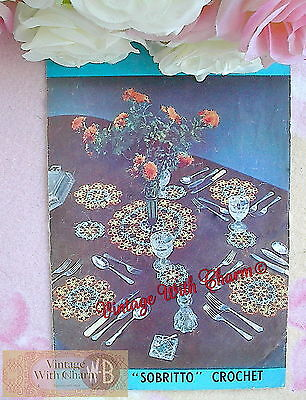 Vintage Tatting Pattern How To Tat, Simple Rings & Picots & Table Mats Pattern.