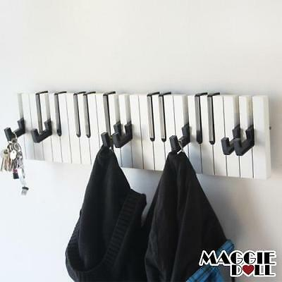 New Piano Design Keyboard Coat Clothes Bag Wall Mounted Hanger Hook Rack