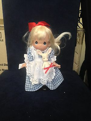 """Precious Moments Alice in Wonderland Alice with Rabbit 6"""" Doll"""