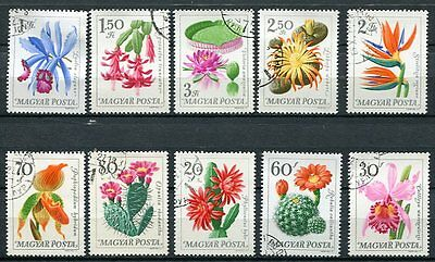 Hungary 1965 Flowers Set Of 10 Stamps Complete!