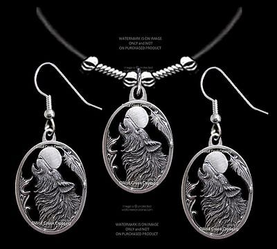 Wolves Moon Song Wolf Necklace/earrings Set A Gift To Howl About  Free Ship 24L*