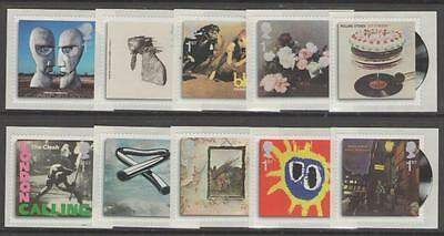 GB SG2999/3008 2010 CLASSIC ALBUM COVERS SELF ADHESIVES MNH