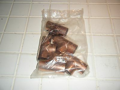 """bag lot of 5 - 1 1/2"""" CXCXC Wrot copper pipe fitting CELLO TEE Sweat Solder ACR"""