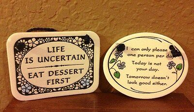 TRINITY POTTERY PLAQUES LOT OF 2