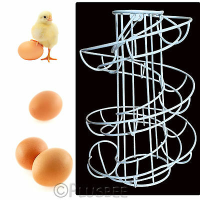 Kitchen Storage Spiral Helter Skelter Anti Broken 18 Egg Holder Stand Rack Holds