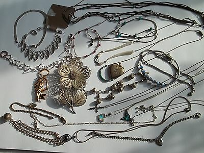 142g sterling silver jewelry lot, scrap or wear,pre-own cnd,pins,vintage+fashion