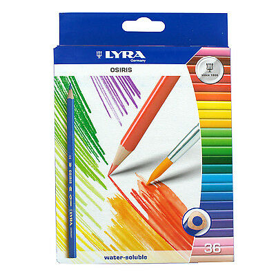 LYRA Osiris Water-Soluble Colored Pencils, 36 Pencils, Assorted