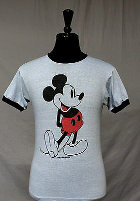 TRUE vintage 70s 80s MICKEY MOUSE soft thin T SHIRT small DISNEY