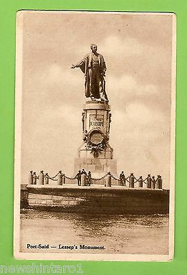 #e.    Egypt  Postcard -  Port Said, Lessep's Monument