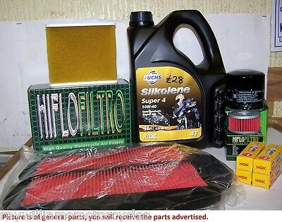 Service kit Oil NGK Plugs & HiFlo Filters YAMAHA XVS650 DRAGSTAR