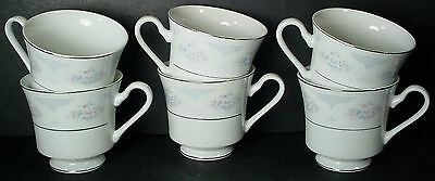SILVERIE china SAPPHIRE pattern CUP Set of 6 CUPS 3""