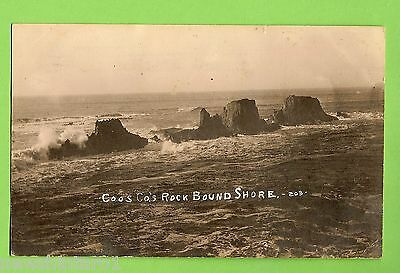 #f.    Usa Sent  Postcard -  Coos County Rock Bound Shore