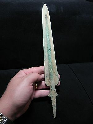 Zurqieh -  Over 3000 Years Old Bronze Spear Head- 1200 B.c , 13 1/2 ""
