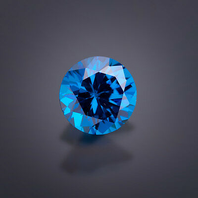 AAA+++ 1,0mm - 5,0mm RUND Zirkonia Sonderfarbe london blue // Qual. AAA-AAAAA