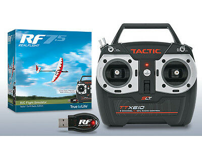 Great Planes GPMZ4526 RealFlight 7.5 W/ Tactic TTX610 Flight Simulator