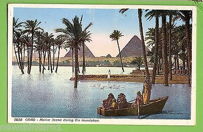 #f.  Egypt  Postcard -  Cairo, Native Scene During Flood