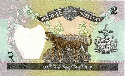 NEPAL (1981- ND)  2  RUPEES   BANK NOTE in a Protective Sleeve
