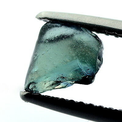 █50%OFF█LOVELY NATURAL UNHEATED 1.37ct TEAL FACET ROUGH MADAGASCAR SAPPHIRE VVS