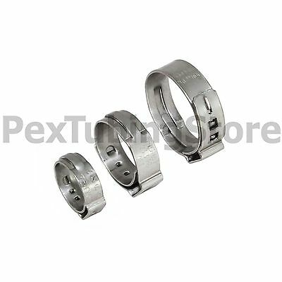 "(1000) 1/2"" PEX Grip (Non-Slip) Stainless Steel Cinch Clamps SSC by Oetiker"