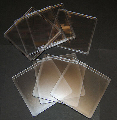 10 Blank Clear Square Plastic Coasters 90x90mm Insert Size N1 Acrylic Coaster