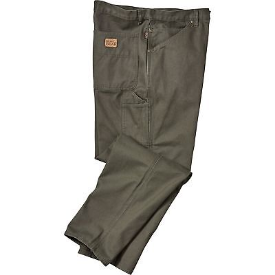 Gravel Gear Heavy-Duty Carpenter-Style Work Pants- Moss 34in Waist x 34in Inseam
