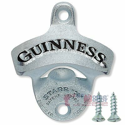Guinness Bottle Opener Wall Mounted Sturdy Cast Iron Licensed Gift Box Included