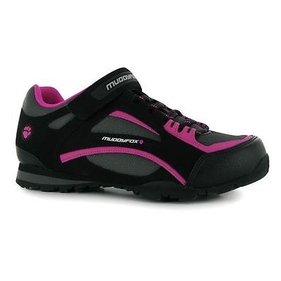 Muddyfox Womens TOUR100 Low Ladies Cycling Cushioned Shoes Sport Cycle Trainers