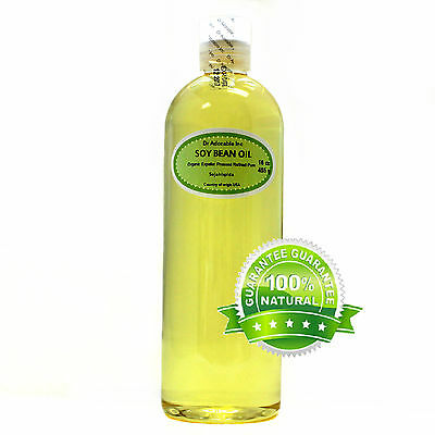 16 oz PURE ORGANIC SOYBEAN OIL COLD PRESSED CARRIER OIL