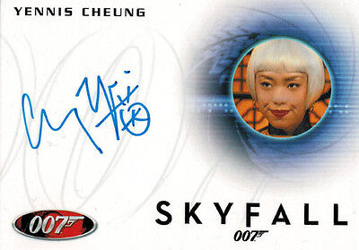 James Bond Archives 2014 Autograph Card A247 Yennis Cheung as Casino Cashier