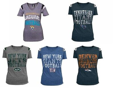 a0ae3f80f NEW NFL 5TH   Ocean Womens Sleeve Stripe Team Top T-Shirt -  21.95 ...