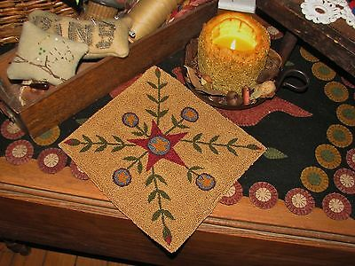 "Primitive Punch Needle Pattern ~  ""Winter Star"""