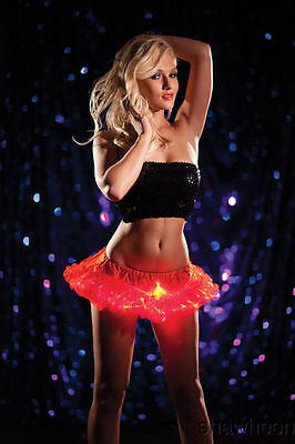 Red Mini Light Up Tutu Halloween Christmas Gift idea New Years Dance Party