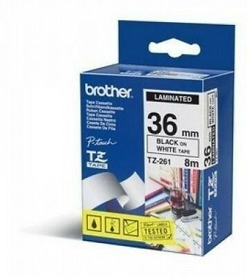 Brother Tze-261 Laminated Tape 36mm 8m - Brother TZe 261 - Ruban laminé NEUF