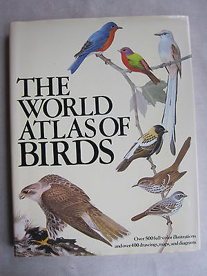 Old Book The World Atlas of Birds Roger Tory Peterson 1974 DJ  VGC