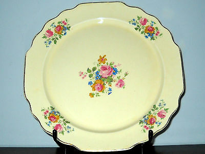 WS George Lido Canarytone Plate Gold With Rose Pattern C. Mid 1900's