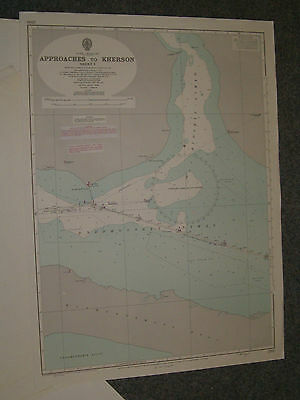 Vintage Admiralty Chart 2200 BLACK SEA - APPROACHES TO KHERSON sheet 1 1967 edn