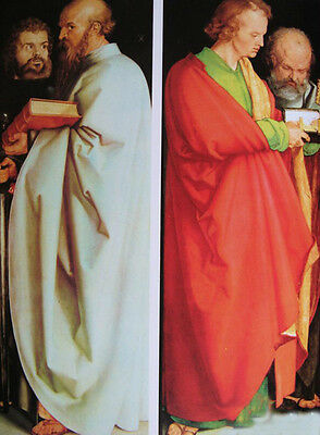 Huge Oil painting male portraits Four Holy Men holding book free shipping cost