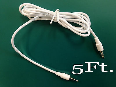 3.5mm Male Auxiliary Sound Stereo Cord 5 Feet MP3 Tablet Smartphone Car Cable WT