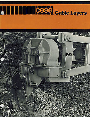 CASE VINTAGE VARIOUS CABLE LAYERS SPECIFICATIONS BROCHURE