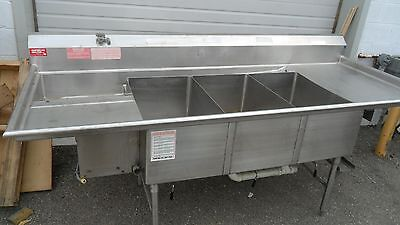 American Delphi Commercial H.d. 3 Compartment Sink